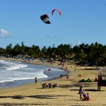Cabarete beach with kites